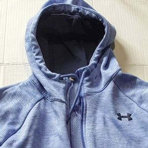 Under Armour Size Small Blue Zip Hoodie